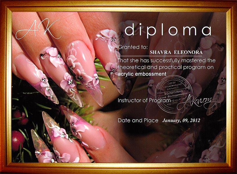 Ногти на защиту диплома